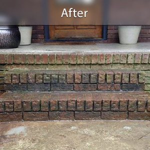 Sinking stairs repaired with PolyLevel® Bedford