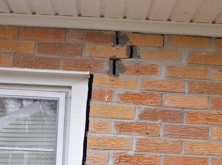 Crack in interior wall of house