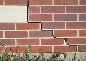 a foundation wall crack on a Concrod home.